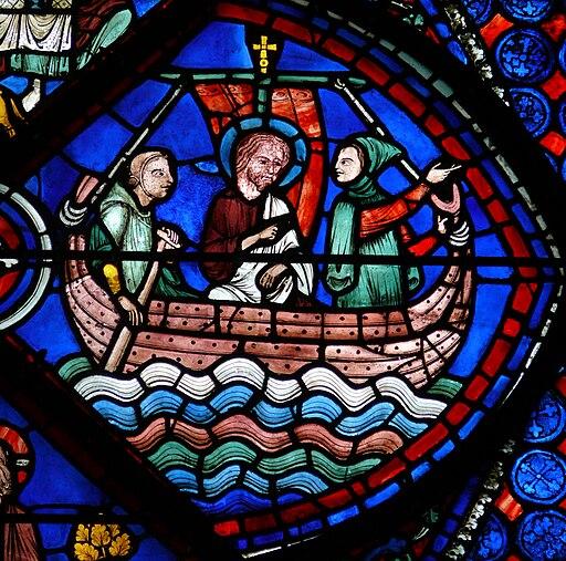 Chartres - Vitrail de la Vie de saint Thomas -2