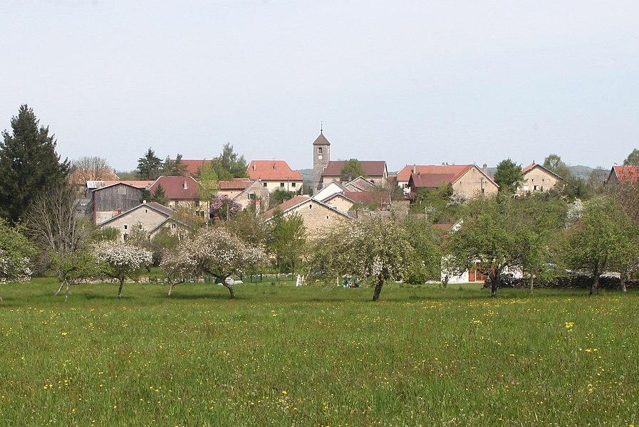 Vue de Chassagne-Saint-Denis (Doubs).