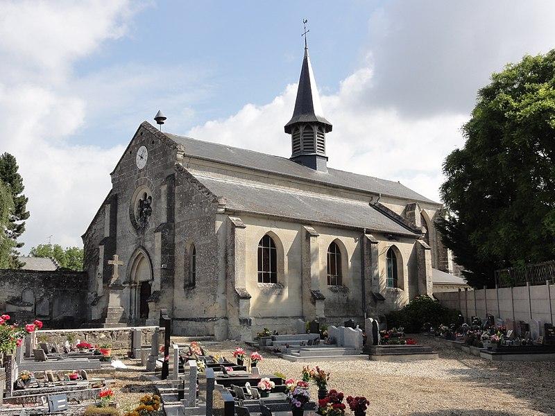 Chaudun (Aisne) église