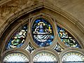 Chaumont-en-Vexin (60), église Saint-Jean-Baptiste, verrière n° 11, tympan.JPG