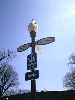 Chemin du Roy - Route marker for the Chemin du Roy in Quebec City.