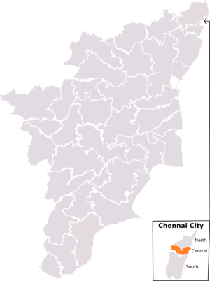 Chennai Central (Lok Sabha constituency) - Chennai Central constituency, post-2008 delimitation