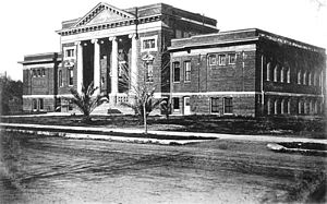 Chico Senior High School - The first Chico High School on West First Street at the present site of the Meriam Library; photo from Meriam Library Special Collections