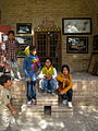 Children in Ribat-i-Abbasi of Nishapur (Hossein - Ali - Fatemeh - Hengameh and another girl - probably Afghani) 12.jpg