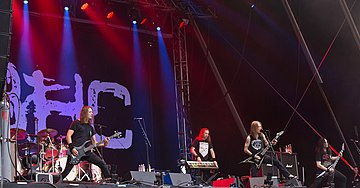 Children of Bodom performing live in 2016 Children of Bodom Rockharz 2016 16.jpg