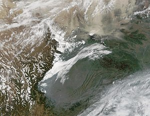 Zigong - Sichuan Basin Satellite View
