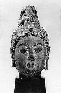 Chinese - Head of Guanyin -Kuanyin- Bodhisattva - Walters 257.jpg