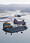 Chinooks celebrate the 100th anniversaries of 18(B) and 27 Squadron from RAF Odiham and 28 Squadron from RAF Benson. MOD 45160403.jpg