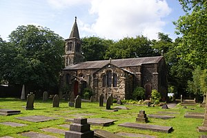 Listed buildings in South Turton - Image: Christ's Church, Harwood