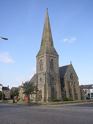Silloth - Christ Church, Silloth, occupies a complete rectangle of the planned town