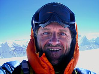Christian Stangl - Christian Stangl on summit of  Cho Oyu (8,201 m)