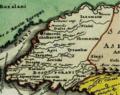 Christoph Weigel. Asia intra Mæotim pontvm et mare Caspivm. 1720. Bosporani.png