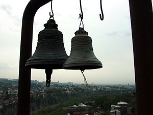 Church bells on top of the Narikala fortress i...