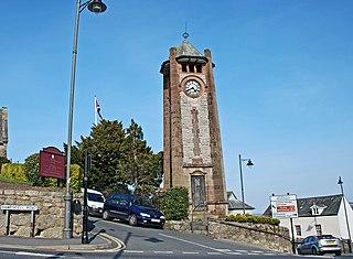 Grange-over-Sands town and civil parish in South Lakeland, Cumbria, England