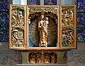 Church of Our Lady Assumed into Heaven and St Vaclav, main altar-reredos (pentaptych ca. 1514), 11 Klasztorna street, Mogiła, Nowa Huta, Krakow, Poland.jpg