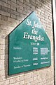 Church of St John with All Saints, Waterloo. Exterior sign 2.jpg