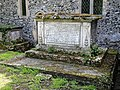 Church of St Mary the Virgin, Woodnesborough, Kent - churchyard table tomb 04 Thomas Collett.jpg