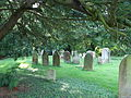 Church of the Holy Cross, Goodnestone - Graveyard at the west.jpg