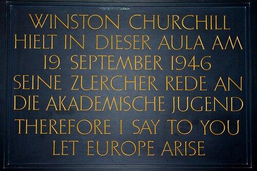 Churchill Zurich let europe arise