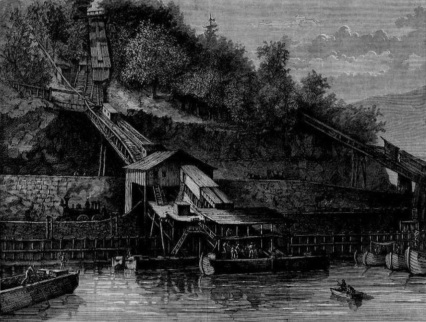 Chutes Loading the Canal Boats on the Lehigh Canal