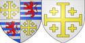 מגן ממלכת ירושלים ומגן ממלכת קפריסין מאוחדת עם ירושלים