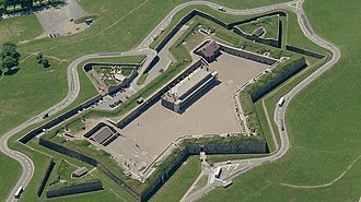 Citadel Hill (Fort George) - An aerial view of Citadel Hill