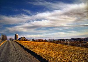 Clifford Township, Susquehanna County, Pennsylvania - A country road in Clifford Township