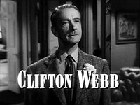 Clifton Webb in Laura trailer.jpg
