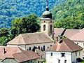 Clocher et centre du village d'Eternoz, vus de la route d'Amancey.jpg