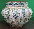 Cloisonné melon-shaped planter from China.JPG