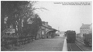 Clonakilty railway station - Clonakilty Station April 1955