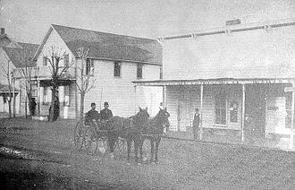 Cloverdale, California - Cloverdale's first post office (circa 1871-1880)