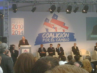 2009 Chilean parliamentary election - Presentation of the Coalition for the Change. Fernando Flores speaks.