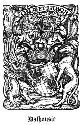 The Scots Peerage - Image: Coat of Arms of the Earl of Dalhousie