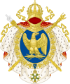 Coat of arms of the First French Empire, round shield version.svg
