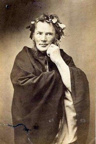 "Richard Cockle Lucas - Lucas posing as a ""Roman"" in a self-portrait c. 1858"