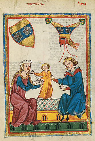 Wiesloch - The Minnesinger von Wissenlo, from the Codex Manesse