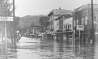 Coeburn, Virginia - Flood in Coeburn in 1963