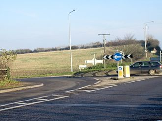Cold Ashton - Roundabout linking the A46 and A420