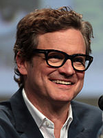 Photo o Colin Firth at the San Diego Comic-Con Internaitional in 2014.