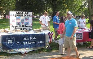 College Republicans - Recruiting new members at The Ohio State University.