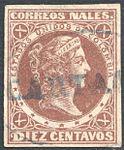 Colombia 1877 Sc74 used Cartagena.jpg
