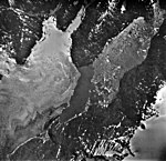 Columbia Glacier, Billy's Hole, Calving Distributary Terminus, August 24, 1964 (GLACIERS 1078).jpg