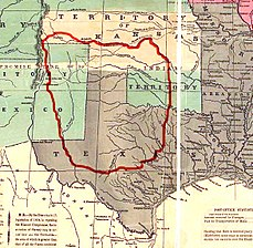 map showing Comanche tribal lands - 1850s