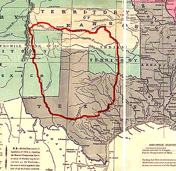 The boundaries of Comancheria -- the Comanche ...