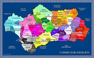 Comarcas of Spain - Comarcas of Andalusia