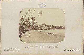 Vista na costa no lugar denominado Guaibú [sic]