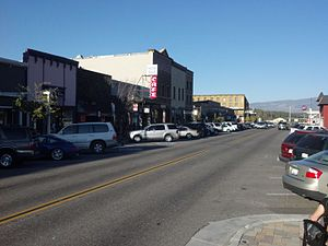 National Register of Historic Places listings in Nevada County, California - Image: Commercial Row Brickelltown Historic District 2012 09 15 17 48 19