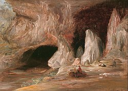 Conrad Martens: Stalagmite columns at the southern entrance of the Burrangalong Cavern