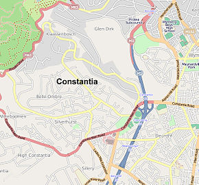 Street map of Constantia